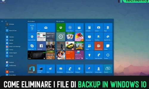 Come Eliminare i File di Backup in Windows 10