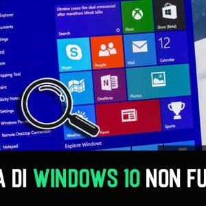 Come risolvere la ricerca di Windows 10 non funziona
