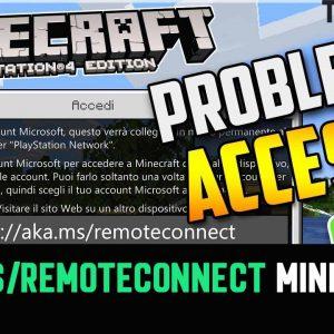 aka.ms/remoteconnect Minecraft Accedi: Risolvere Errore Microsoft