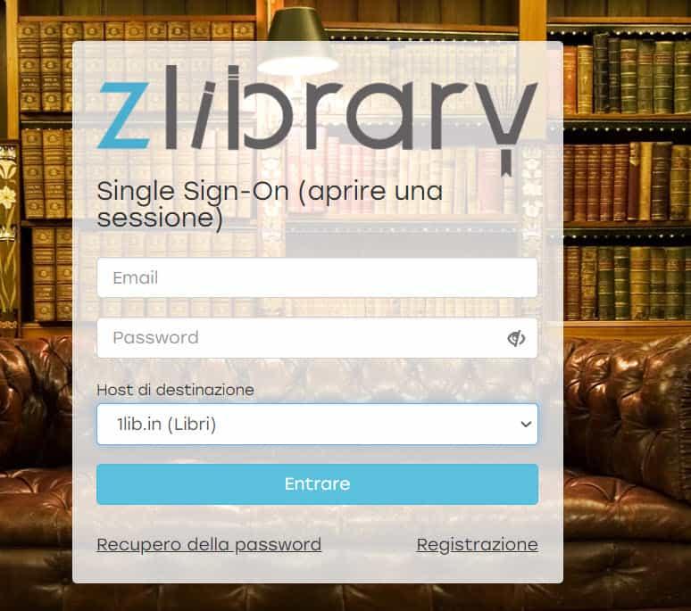 Registrati su Z Library