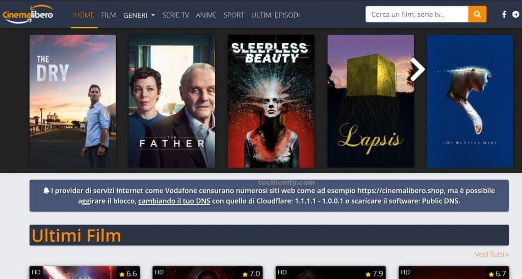 Cinemalibero Nuovo Sito Indirizzo 2021