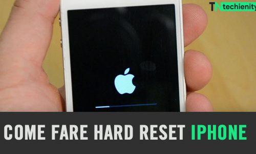 Come Fare Hard Reset iPhone (iOS) 7, 8, X, 12