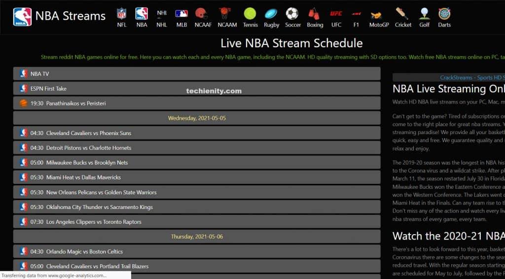 NBA Streaming Live Gratis