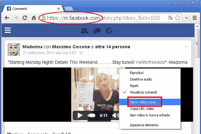 Scaricare Video da Facebook utilizzando m.facebook.com