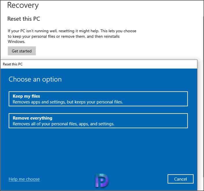 Formattare Windows 10 PC/Laptop