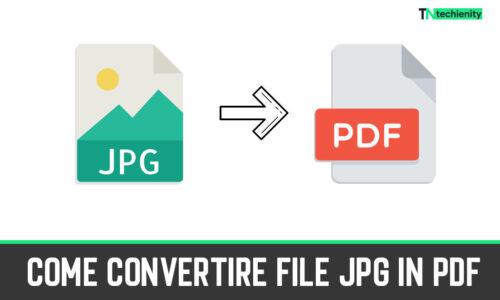 Come Convertire file JPG in PDF su PC Windows