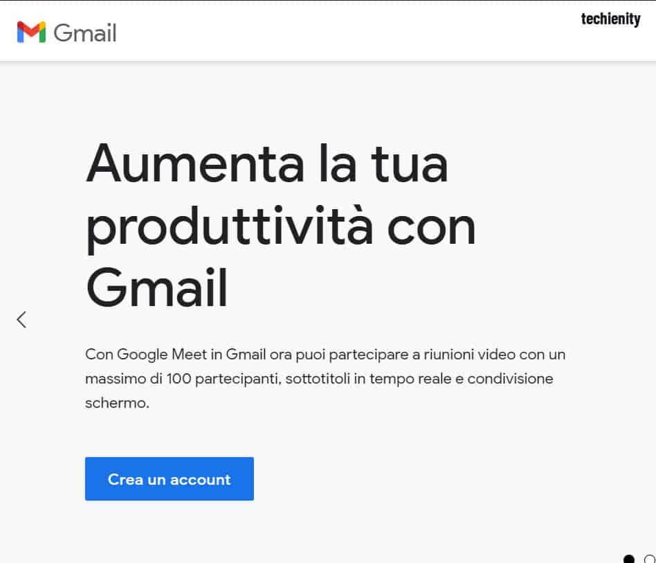Creare Gmail Nuovo Account