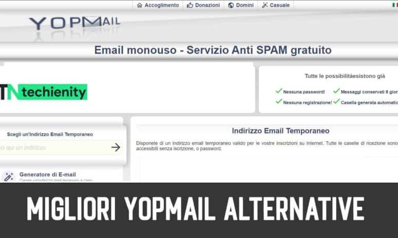 10 Migliori YopMail Alternative per Email Temporanea 2021