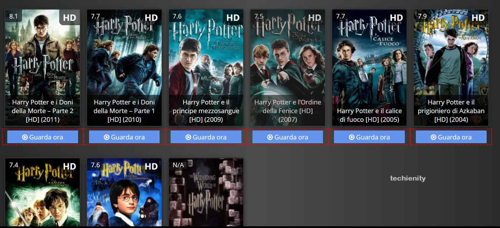 Harry Potter Streaming ITA