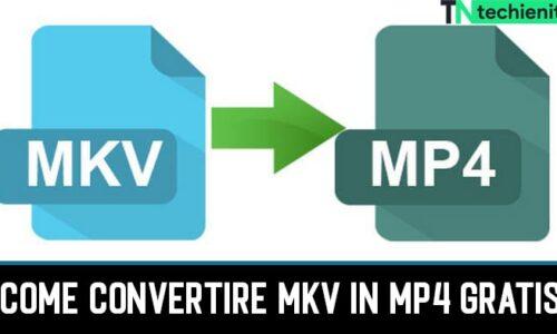 Come Convertire MKV in MP4 Online Gratis